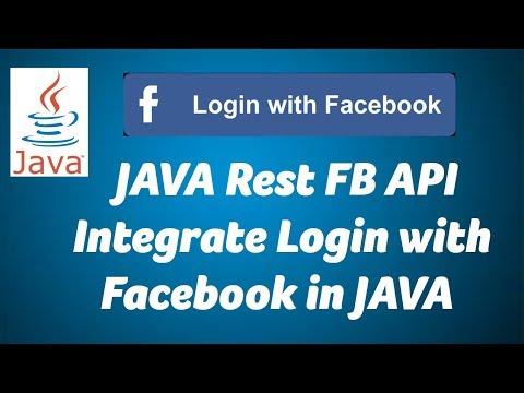 JAVA - Login with Rest FB API in Facebook 01 - Get User Name