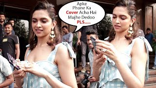 Watch How Sweetly Deepika Padukone Ask For Phone Cover From Media Photographer