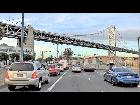Driving Downtown 4K - San Francisco's Shoreline - USA