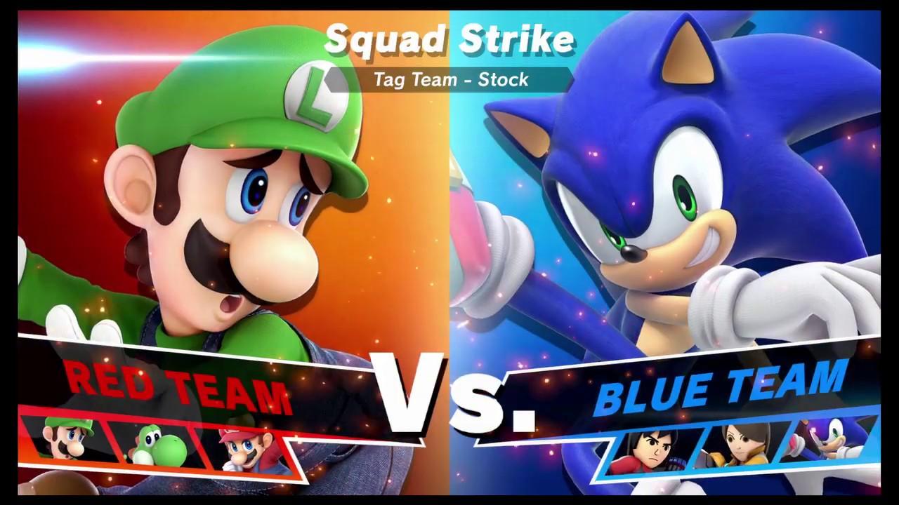 Super Smash Bros Ultimate Amiibo Fights   Request #9699 Mario vs Sonic Squad Strike
