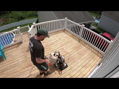 How to Sand a Deck: Prep before stain