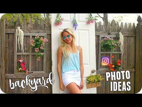 SUMMER INSTAGRAM PICTURE IDEAS! How to create cool backyard photo scenes -  BTS INSTAGRAM PHOTOSHOOT