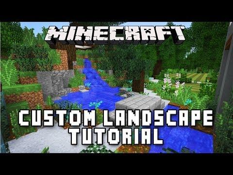 Minecraft Tutorial: Making A Zen Garden Design  (Modern Build House Ep.36)