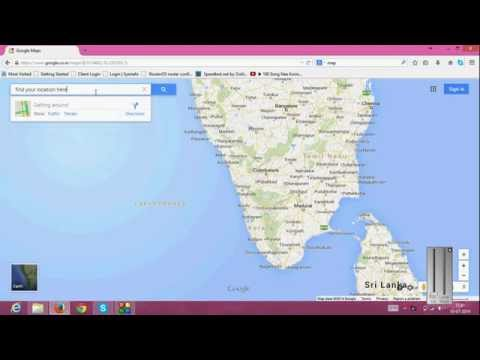 Find your Location in Google MAP