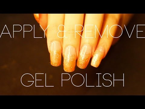 How To Apply and Remove Gel Polish on ACRYLIC Nails