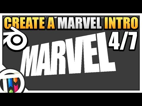 Blender Tutorial - How to make a Marvel Intro - Text (4/7)