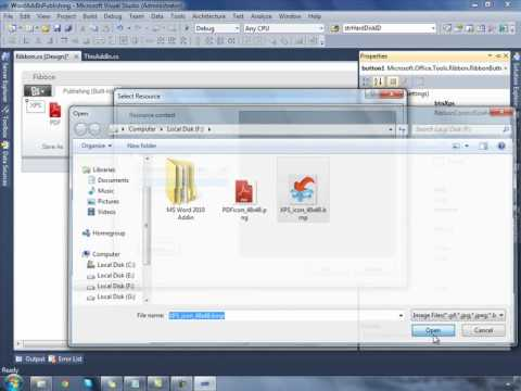 How to develop an MS Word/MS Office Add-in using Visual Studio 2010 and C#.NET