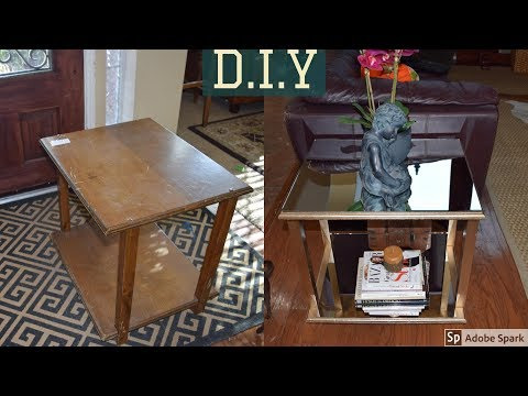 Drab to Fab: DIY Mirrored Table for under $20 TOTAL