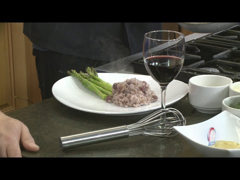 In the Kitchen: Hazelnut Roasted Rack of Lamb with Risotto
