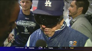 Dodgers Put Icing On The Cake For Lasorda