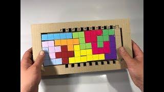 Tetris. Cardboard game. Children's educational puzzle