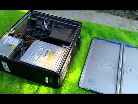 Cleaning of a dusty computer with compressed air