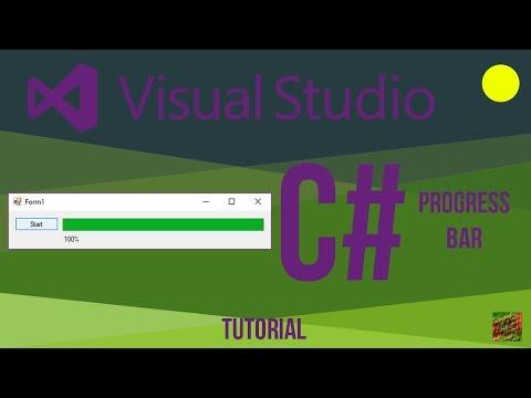Visual Studio C# Basic ProgressBar Tutorial