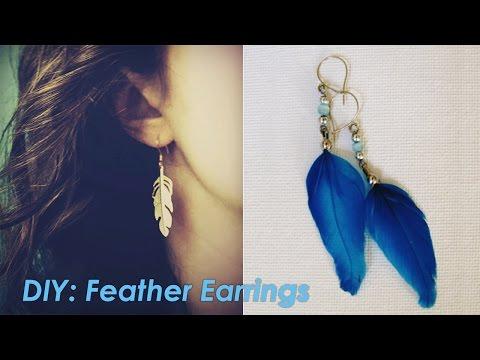 DIY: Feather Earrings