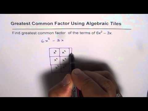 How to Find Greatest Common Factor of Polynomial With Algebra Tiles