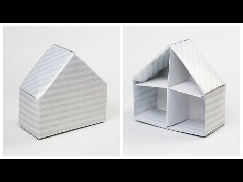 Origami House Box Tutorial ♥︎ Dolls House ♥︎ Paper Kawaii