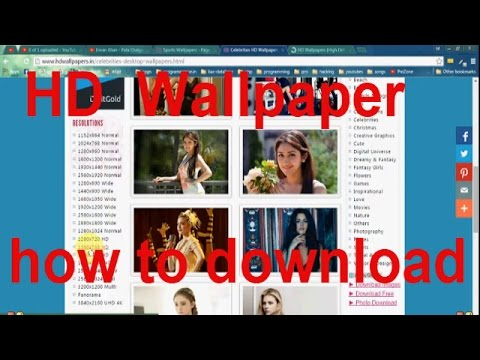 How to Download Full HD wallpaper (according to u'r pc screen size)