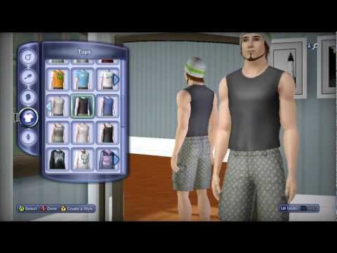 The Sims 3 Pets XBOX 360 Gameplay: Character and pet customization (HD)