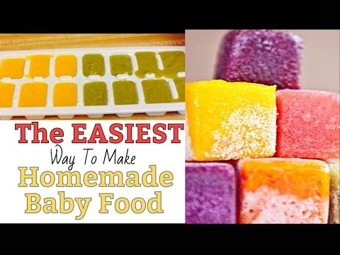 THE EASIEST WAY TO MAKE AND STORE HOMEMADE BABY FOOD