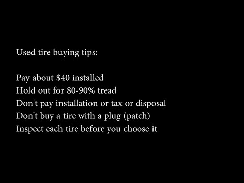 How To Buy Used Tires + Save Money VLOG: 113