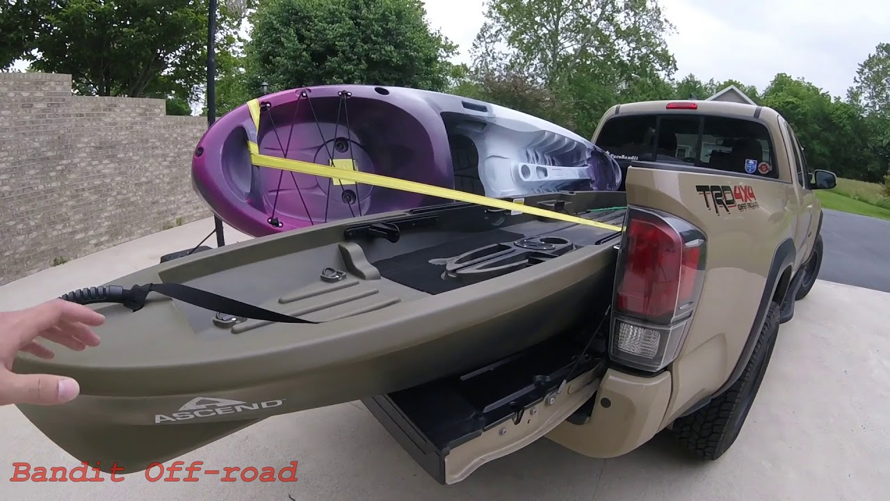 No Bed Racks Needed! - How to Haul Kayaks in YOUR Tacoma!!!