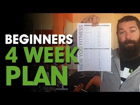 Beginners 4 Week Plan⎟1 Month Training Program