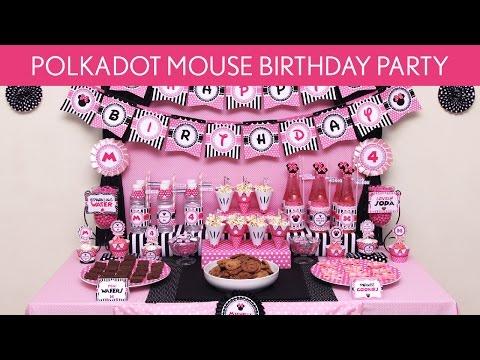 Polkadot Mouse Birthday Party Ideas // Polkadot Mouse - B123