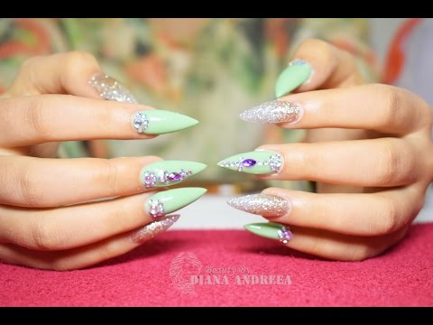How To: Stiletto nails - Gel nails refill | BeautybyDianaAndreea