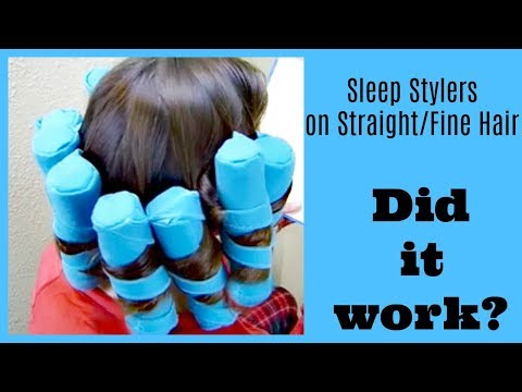 Sleep Styler Review and Demo! No Heat Curls Tested On Straight/Fine Hair