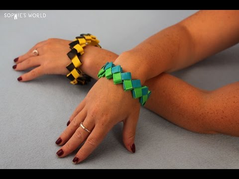 How to Make a Duct Tape Zig Zag Bracelet | Sophie's World