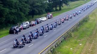 Funeral procession for U.S. Marine Skip Wells 575