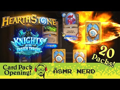 ASMR Whisper | Hearthstone | Knights of the Frozen Throne Card Pack Opening!