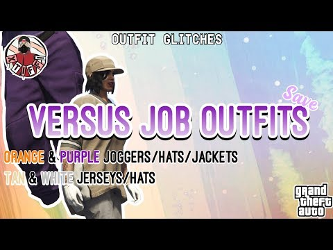 GTA5 | Outfit Glitches: Save Versus Outfits *Purple/Orange Joggers, Tan Jersey (Female & Male)