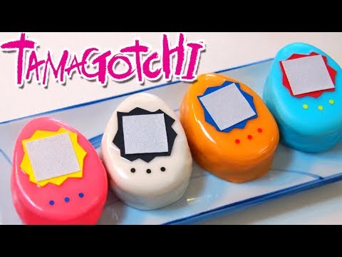 TAMAGOTCHI you can EAT! DIY Petit-Four Cake - how to make the best toy ever episode