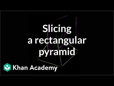 Slice a rectangular pyramid | Perimeter, area, and volume | Geometry | Khan Academy