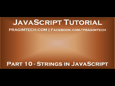 Strings in JavaScript