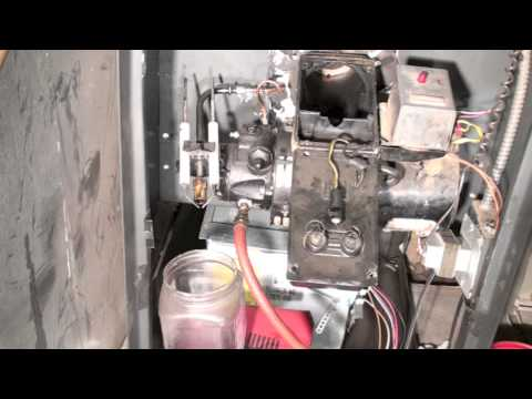Oil furnace troubleshoot.  Part #6.  Gun and line flush