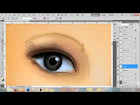 How to draw an eye in Adobe Photoshop CS5 (digital painting)