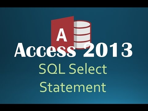 61. SQL SELECT Statement (Programming In Access 2013)