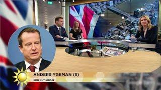 """Anders Ygeman: """"Vi behöver bli bättre på att upptäcka terroristerna"""" - Nyhetsmorgon (TV4)"""