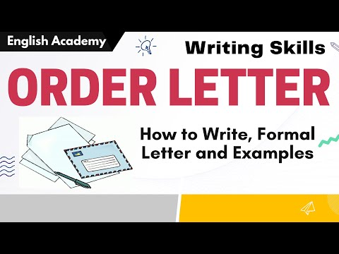 How to write Order Letter- Formal Letter writing - Writing Skills Format and Example of Order Letter