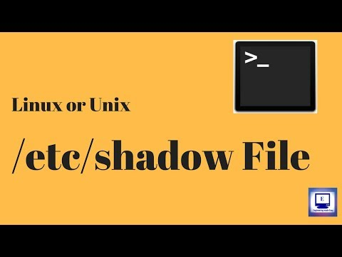 The /etc/shadow File | Unix and Linux OS | Unit 6