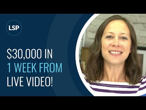 How Drew Brazier brought in $30,000 in 1 Week through LIVE VIdeo!
