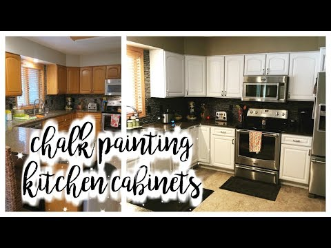 HOW I CHALK PAINTED MY KITCHEN CABINETS!