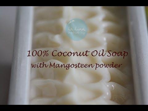 Making 100% Coconut oil soap