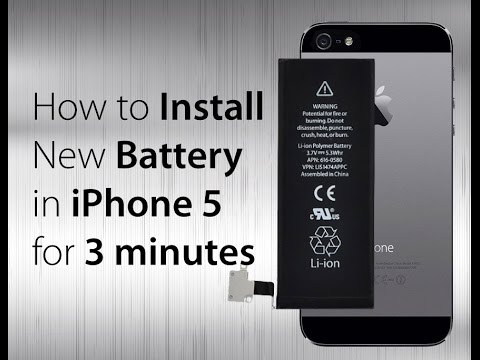 How to replace iphone 5 battery
