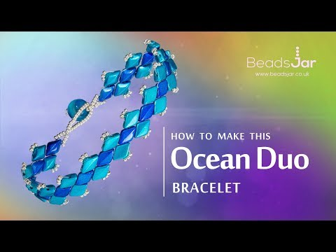 How to make this Ocean Duo Bracelet | GemDuo Seed beads