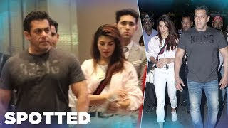 Salman Khan SPOTTED With His Race 3 Co-Star Jacqueline Fernandez At Airport