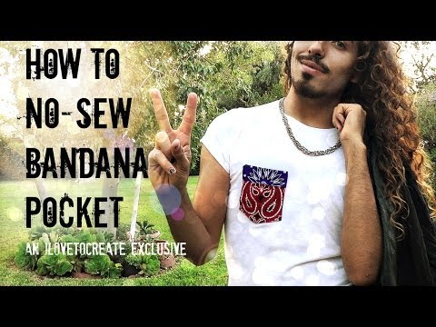 How to No Sew 4th of July bandana pocket
