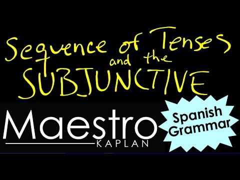 Sequence of Tenses and the SUBJUNCTIVE in Spanish